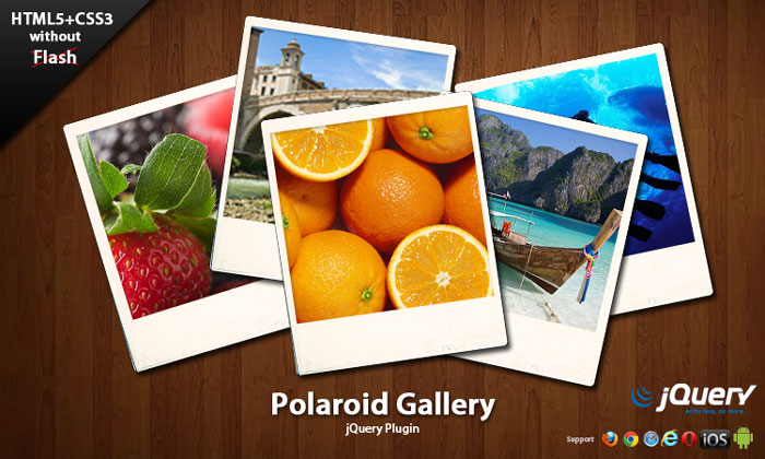 mobile image gallery jquery. Polaroid Gallery JQuery plugin is a easy to use JQuery plugin for web